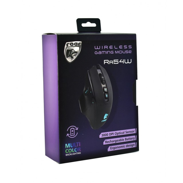 ROAR ασύρματο Gaming ποντίκι RR54W, Οπτικό, 3000 DPI, 8 πλήκτρα