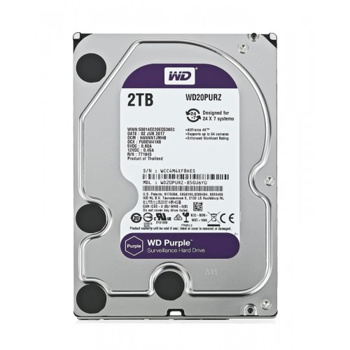 WD Purple Surveillance Σκληρός Δίσκος 3.5