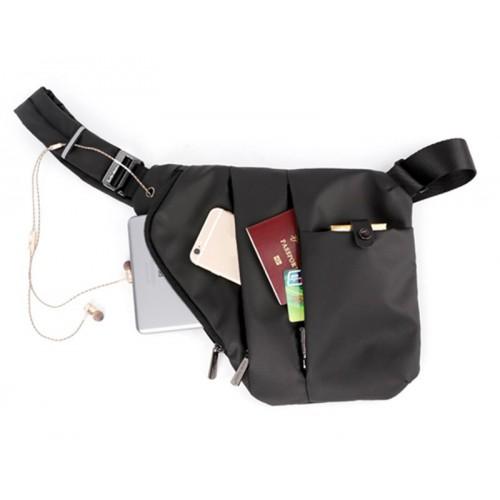 ARCTIC HUNTER τσάντα crossbody XB00041-BK, αδιάβροχη, μαύρη