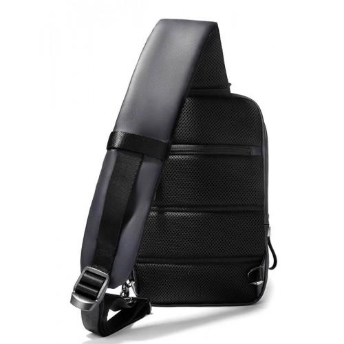 ARCTIC HUNTER Τσάντα Crossbody XB00088-BK, USB, αδιάβροχη, μαύρη