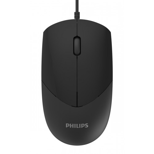 PHILIPS ενσύρματο ποντίκι SPK7244, 1000DPI, USB, 3 πλήκτρα, μαύρο
