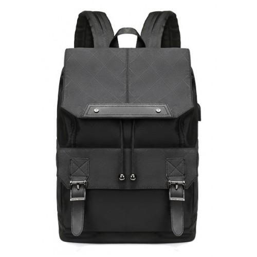 ARCTIC HUNTER τσάντα πλάτης B-00287-RMB με θήκη laptop, USB, μαύρη