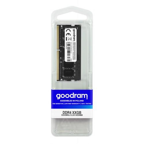 GOODRAM Μνήμη DDR4 SODimm, 4GB, 2400MHz, PC4-19200, CL17