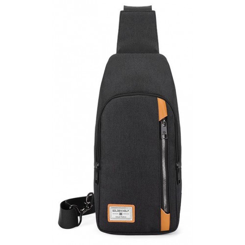 ARCTIC HUNTER Τσάντα Crossbody GXB00106-BK, αδιάβροχη, μαύρη