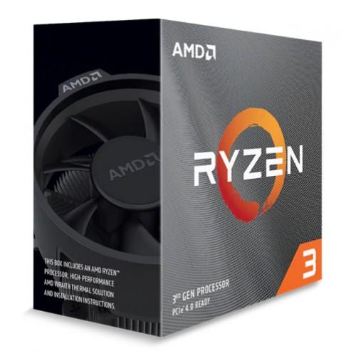 AMD CPU Ryzen 3 3100, 3.6GHz, 4 Cores, AM4, 18MB, Wraith Stealth cooler
