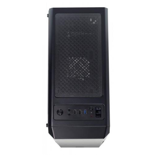 ZALMAN PC case S3, mid tower, 412x189x451mm, 1x fan, διάφανο πλαϊνό