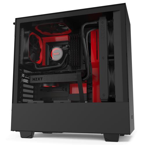 NZXT H510 Black Red - Tempered Glass