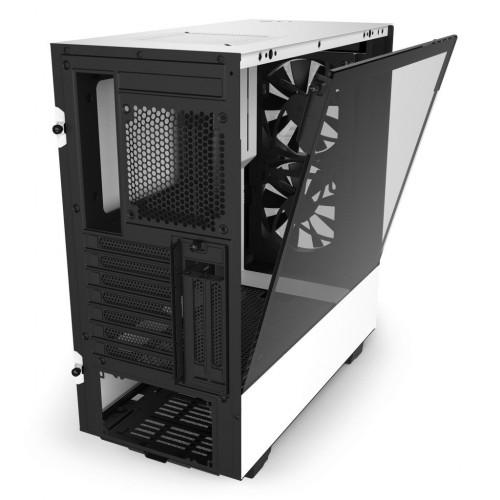 NZXT H510 ELITE WHITE - Tempered Glass -Smart 2nd Gen - RGB Fan/Led - Vertical GPU Mount - ATX Case