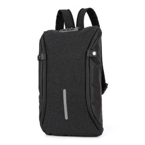 ARCTIC HUNTER τσάντα crossbody XB00046-BK, αδιάβροχη, lock, μαύρη