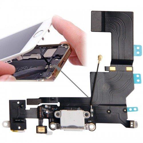 Flex θύρας φόρτισης/ακουστικων για iPhone 5s Λευκό