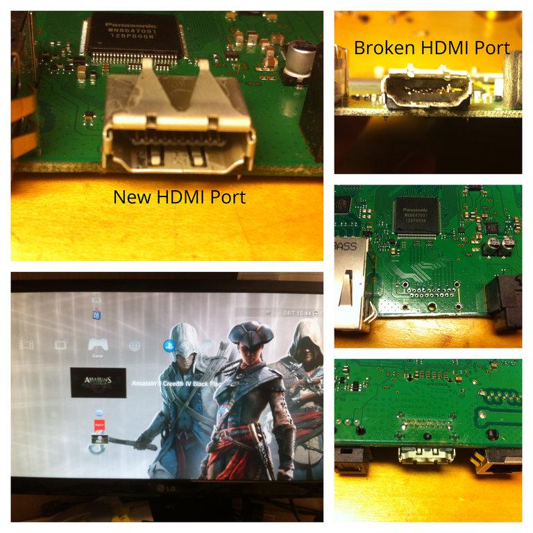 Επισκευή σπασμένου HDMI Port σε PS3